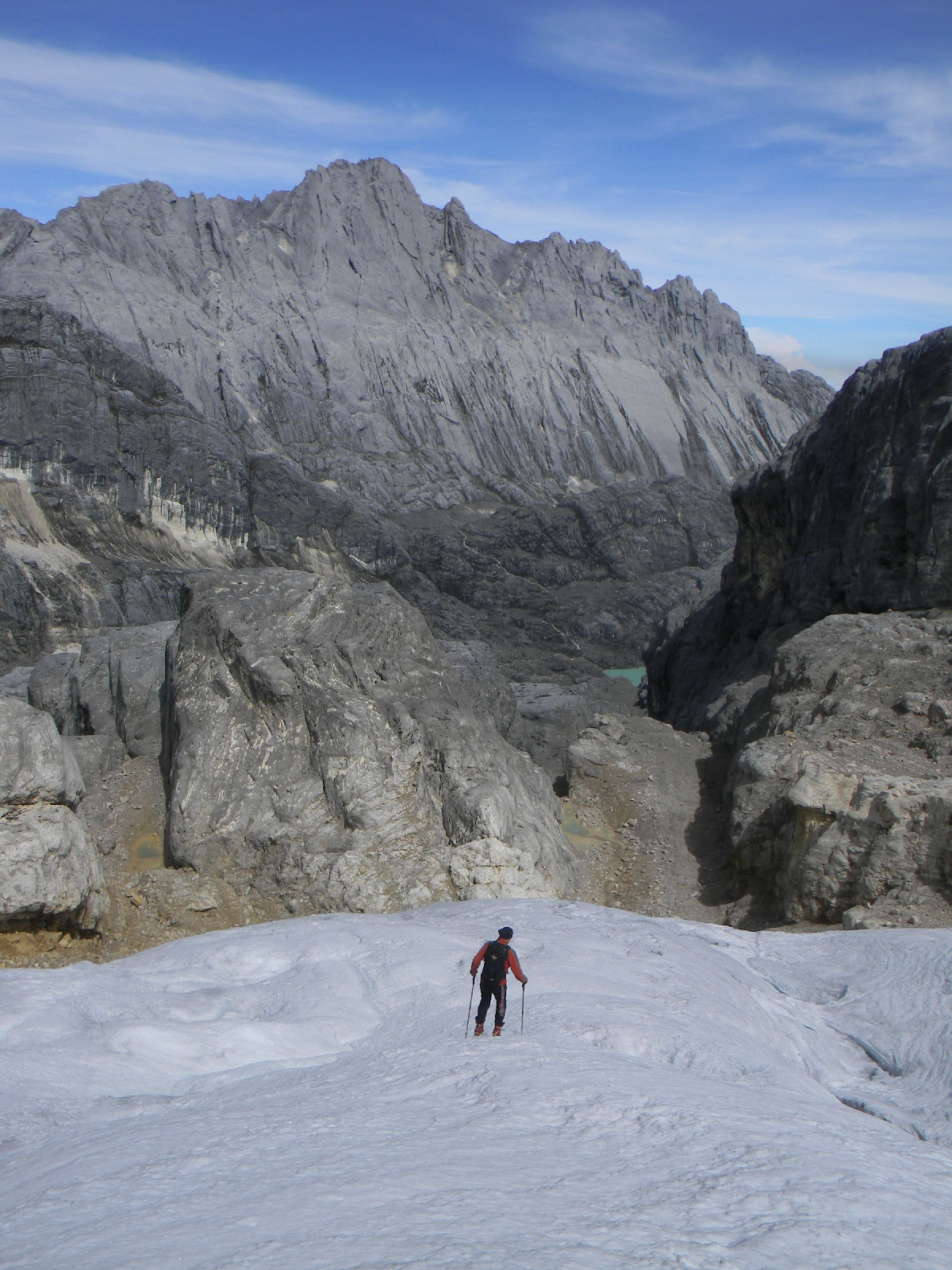 Carstensz Pyramid from North Wall Firn (Robert Cassady, 2010)