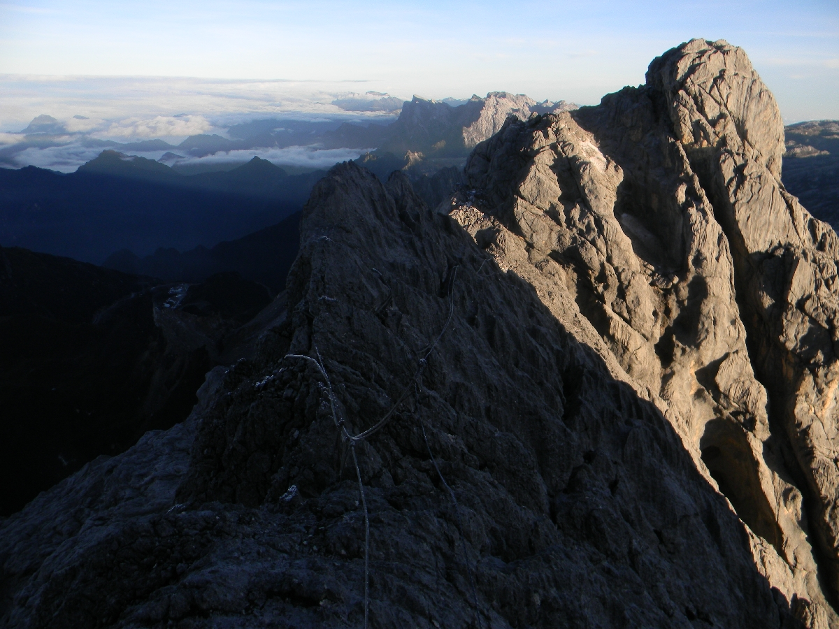 Summit ridge of Carstensz Pyramid (Ndugu Ndugu) (Robert Cassady, 2010)