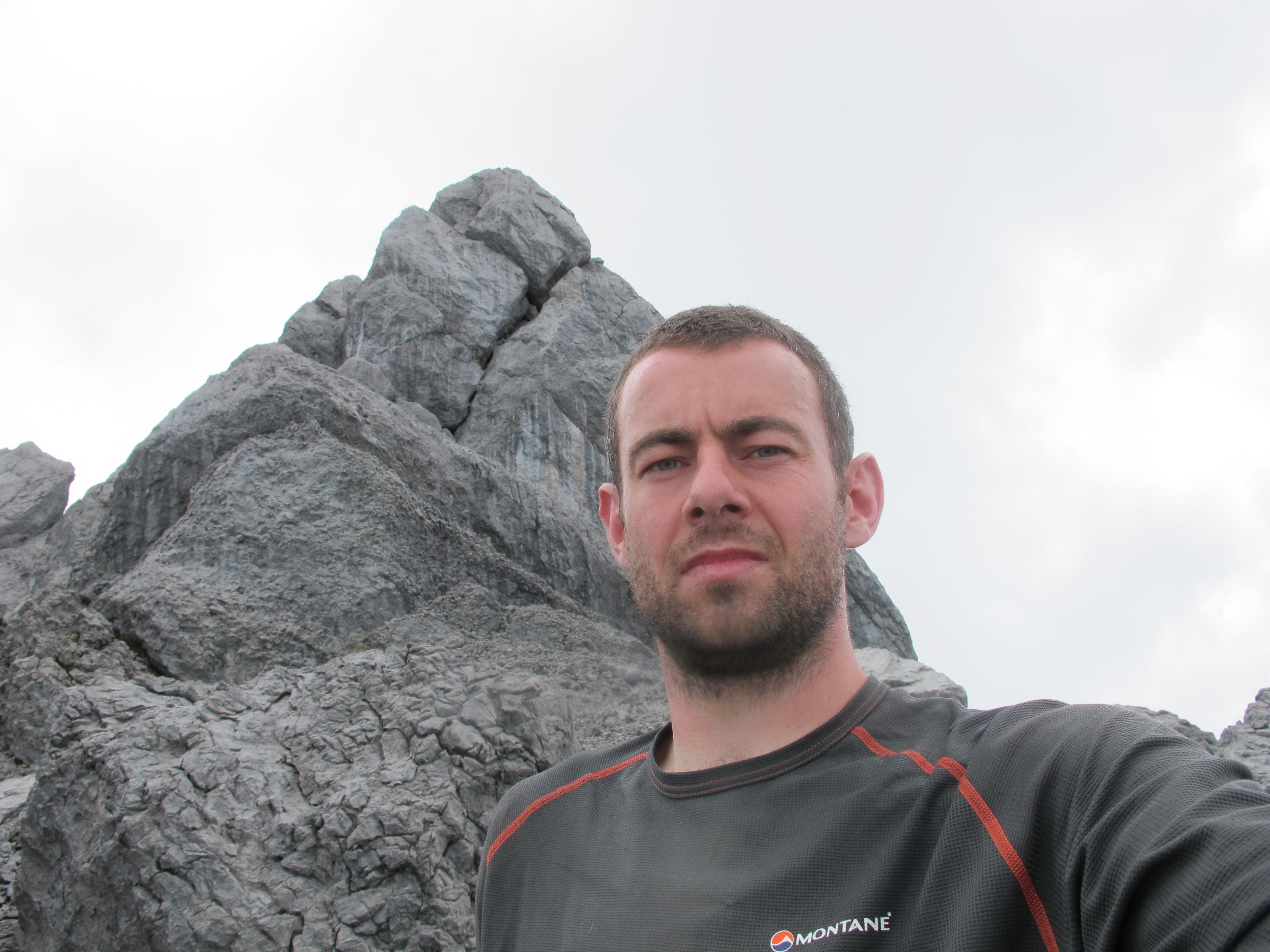 1st Dec 2010 Ricky at expedition high point on Trikora summit ridge