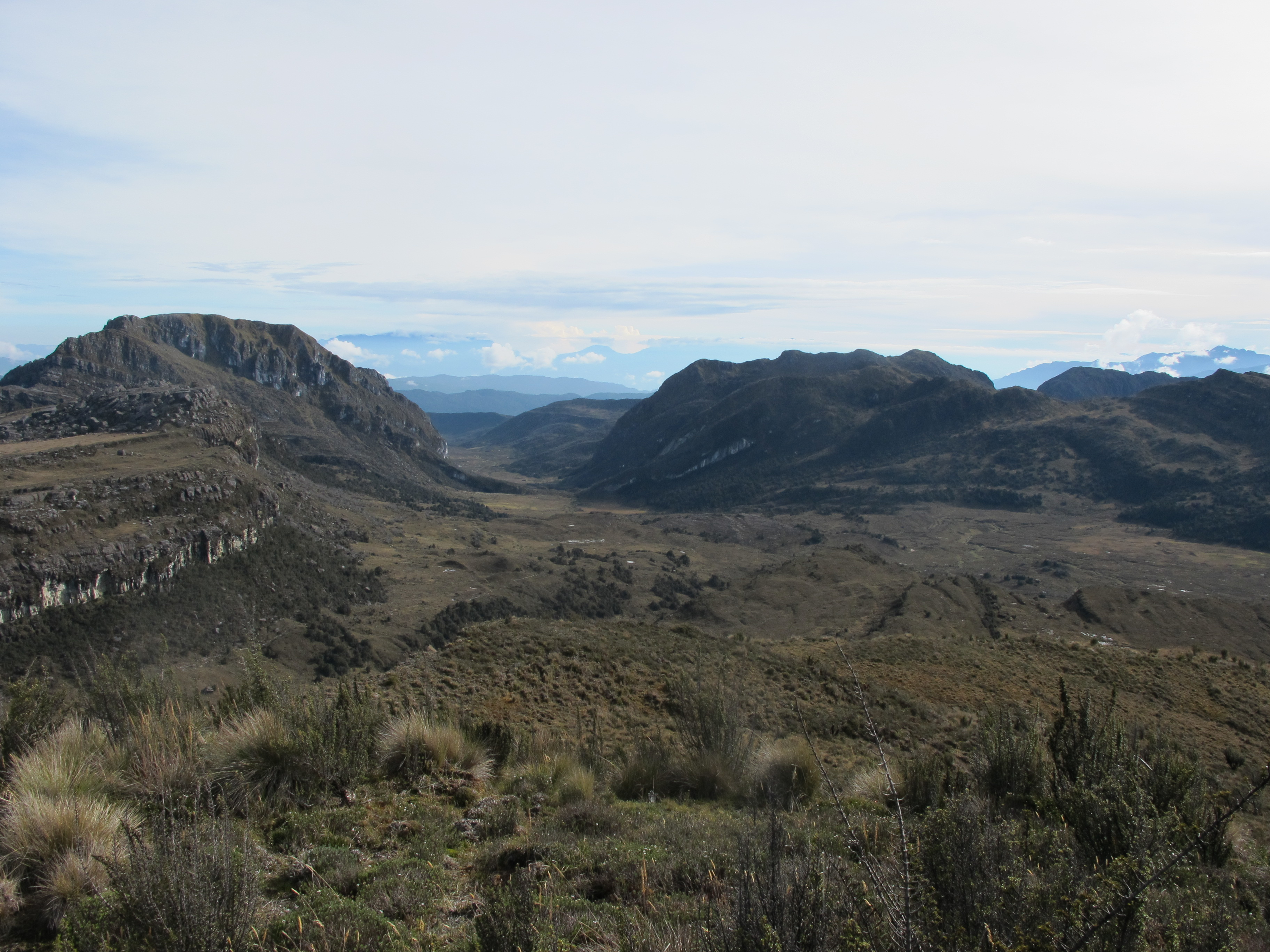 30 Nov 2010 View back towards cave camp and Lake Habbema from Trikora flank