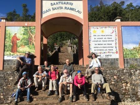 Group at entrance to Ramelau climb (Nicholas Hughes, July 2018)