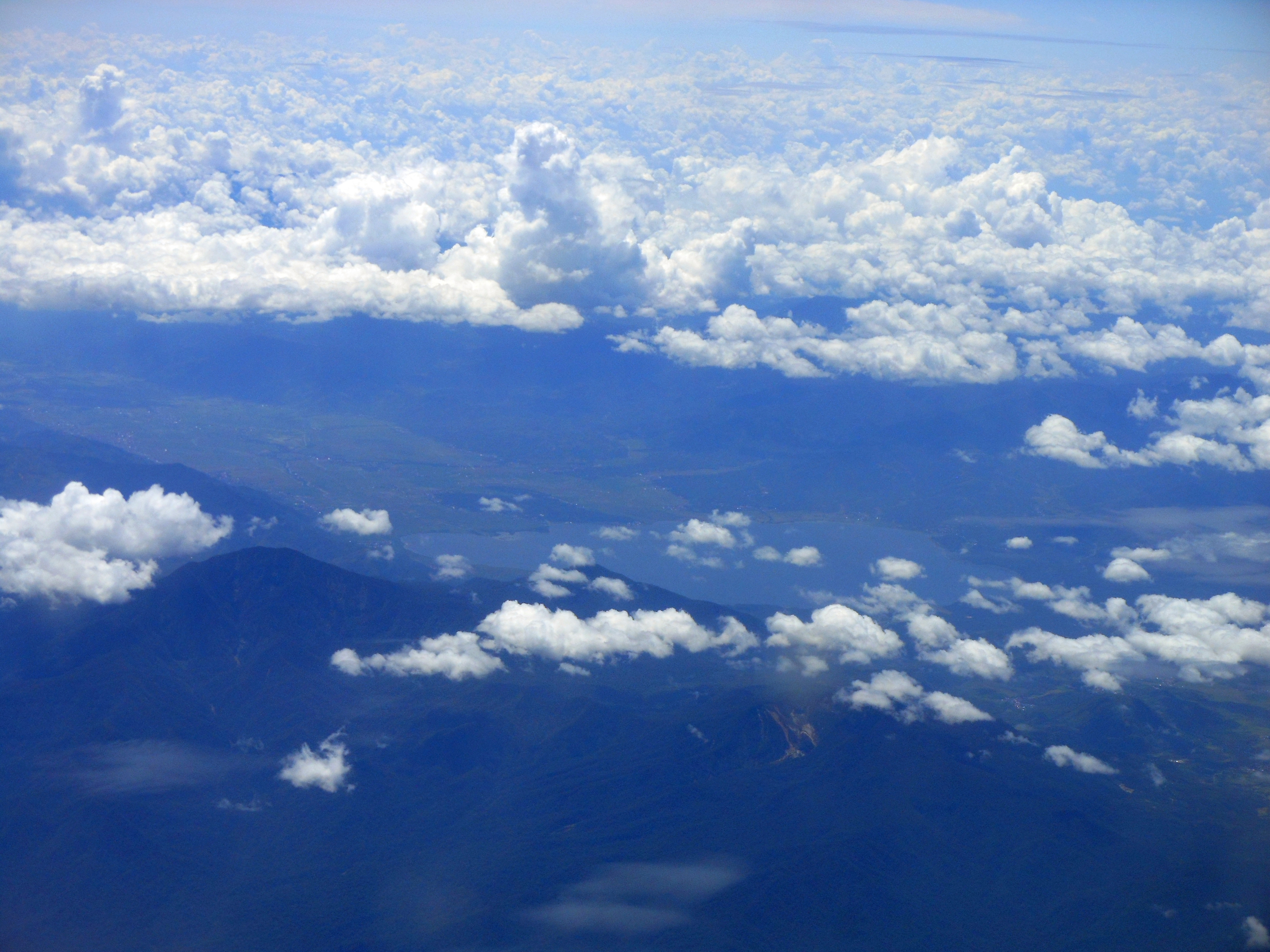 raya and lake kerinci from above