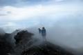 hiking-along-slamet-crater-rim