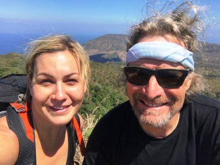 Lisa and David on summit of Manucoco (Lisa Peterskovsky, July 2018)