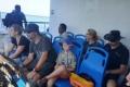 Deck passengers on Laju Laju landing craft (Maike Willuweit, July 2018)