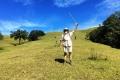Nick on cow pasture on slope of Mundo Persido (Nicholas Hughes, July 2018)