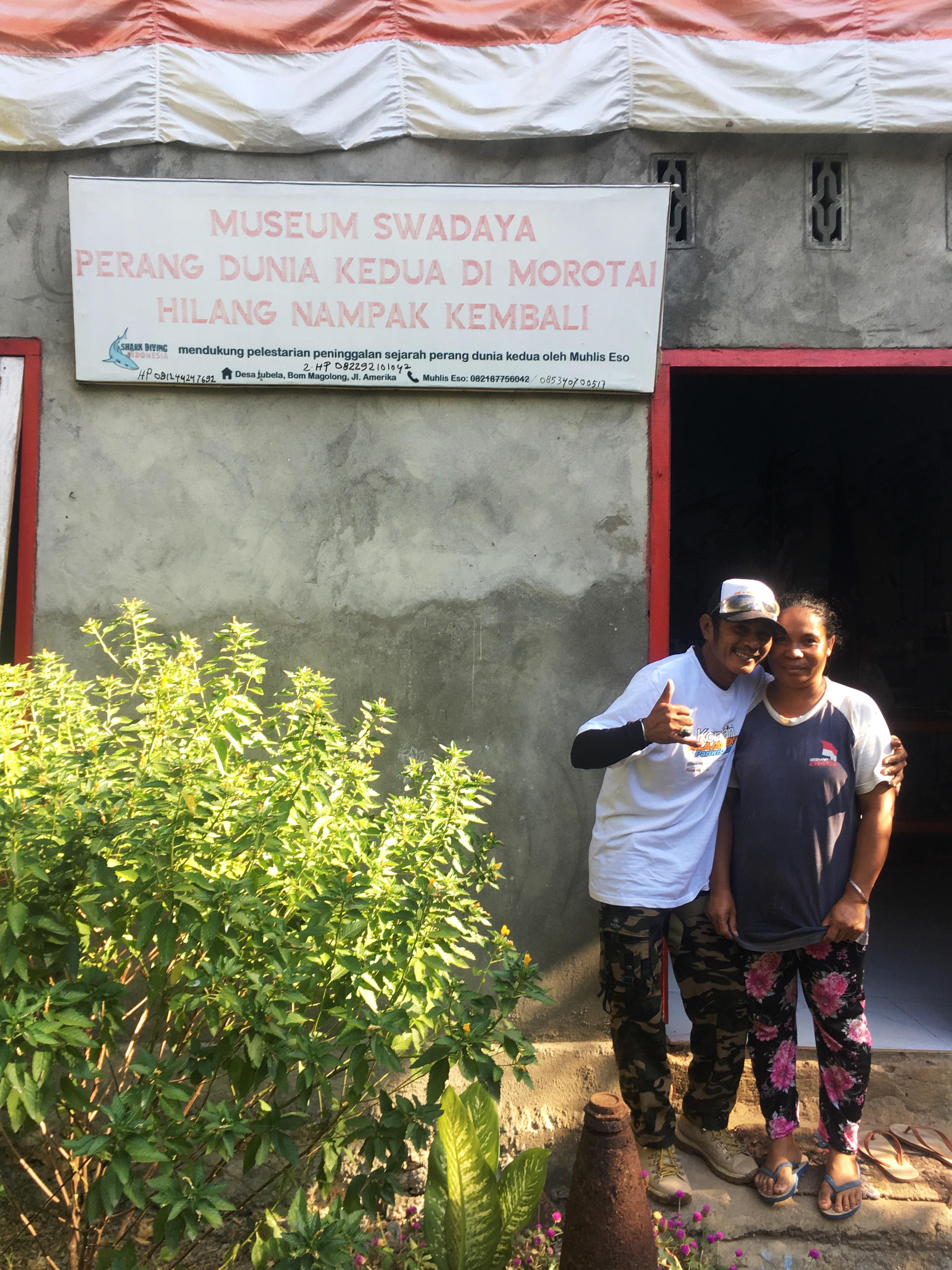 Gunung-Sabatai-Muhlis-and-wife-at-their-WWII-Museum-Nick-Hughes-September-2019