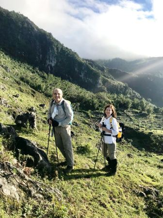 Roland and Brigitte on ascent of Matebean (Lisa Peterskovsky, Jluy 2018)