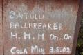 118 Mulu summit grafitti
