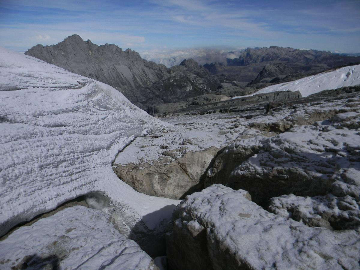 Carstensz Pyramid from Puncak Jaya (Robert Cassady, 2010)