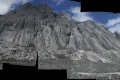 Panorama of Carstensz Pyramid north face (Robert Cassidy, 2010)