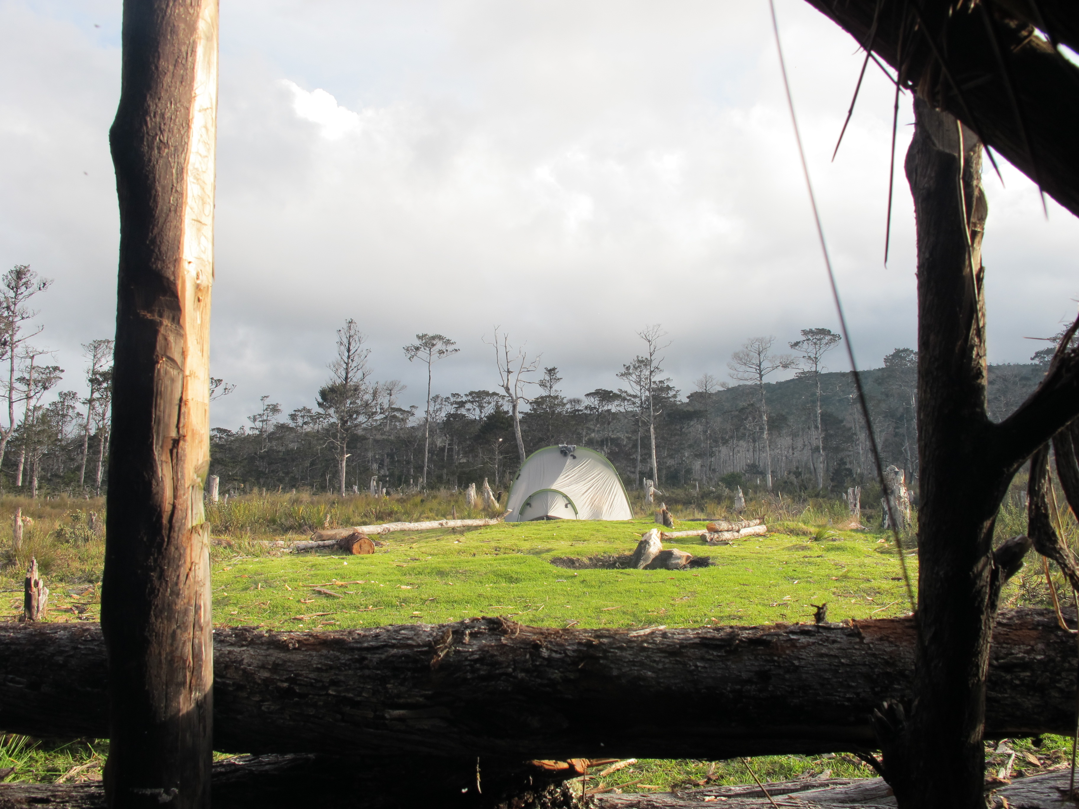 28 Nov 2010 View of tent from Wakikama shelter