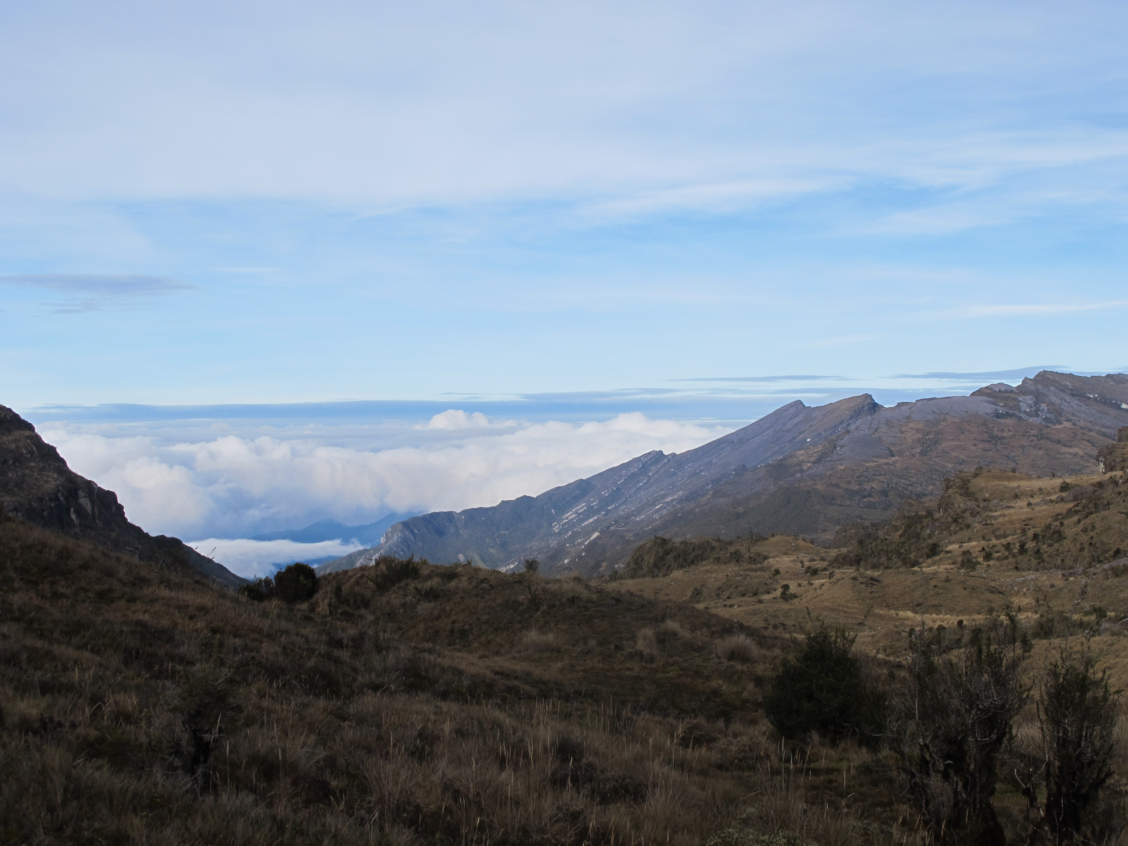 30 Nov 2010 Cloud-filled valley west of Trikora