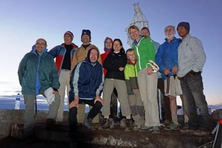 Group photo on summit of Ramelau (Trevor Sharot, July 2018)