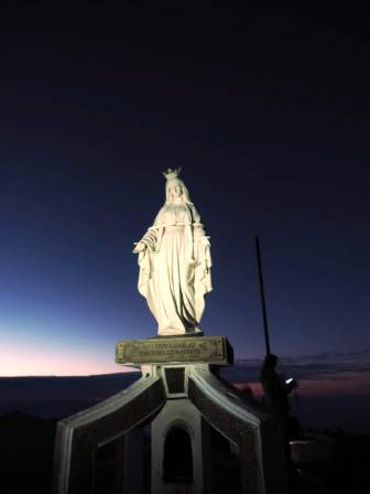 Virgin Mary on summit of Ramelau (Brigitte Haering, July 2018)