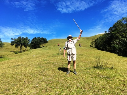 Nick on cow pasture on slope of Mundo Persido (Nicholas Hughes, July 2018)