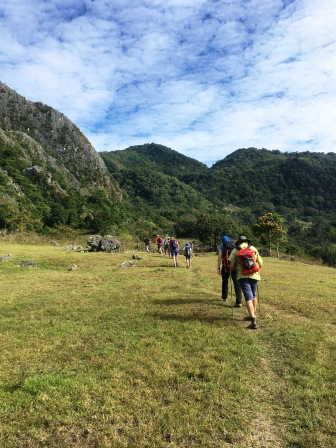 Trailhead of Mundo Perdido trek (Nicholas Hughes, July 2018)
