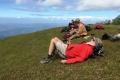 Relaxing on upper slopes below summit of Mundo Perdido (Nicholas Hughes, July 2018)
