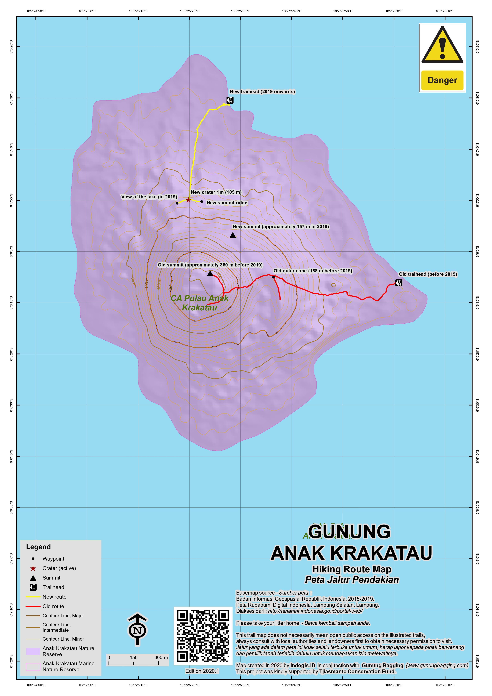 Peta Jalur Pendakian Anak Krakatau