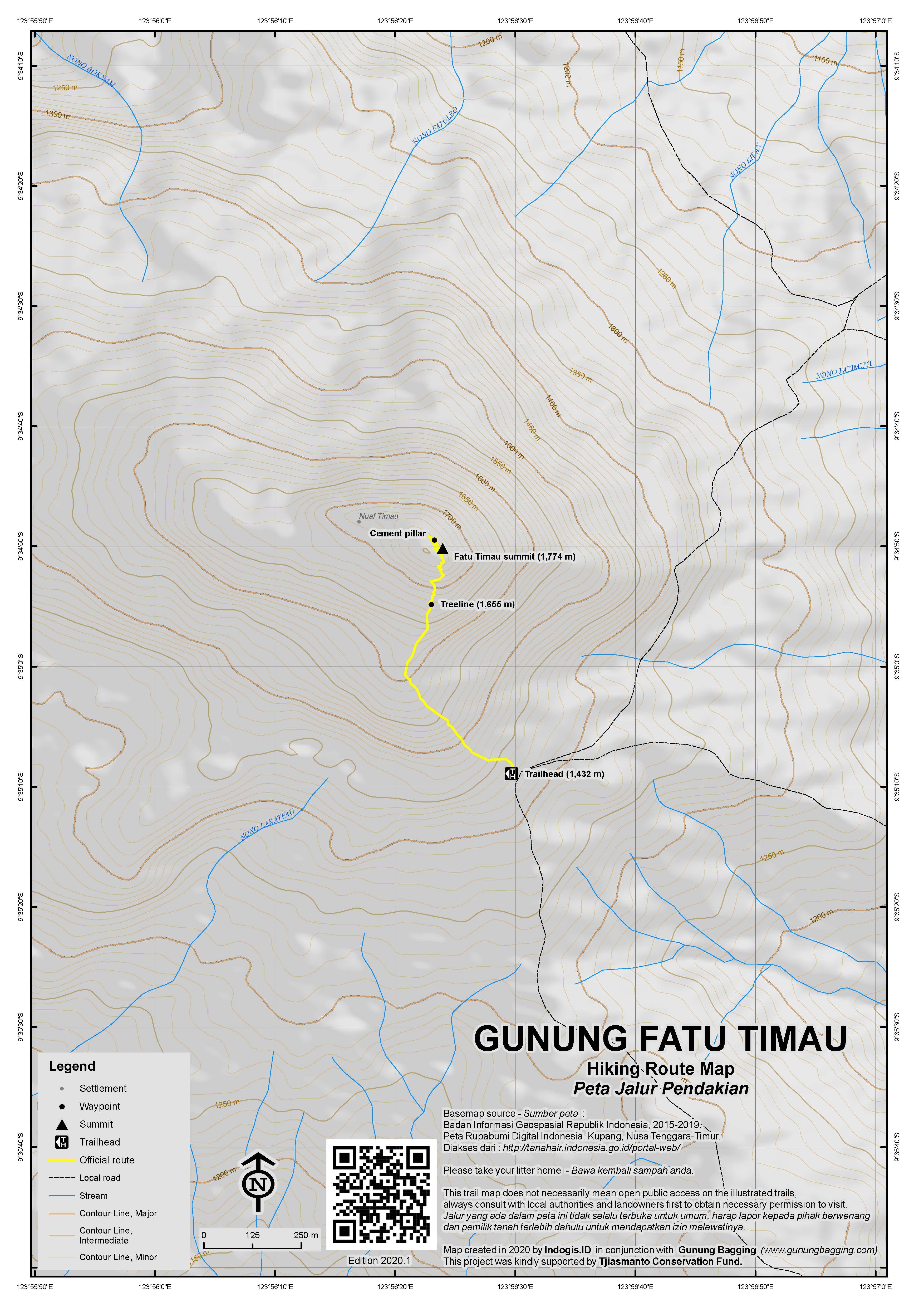 Peta Jalur Pendakian Fatu Timau