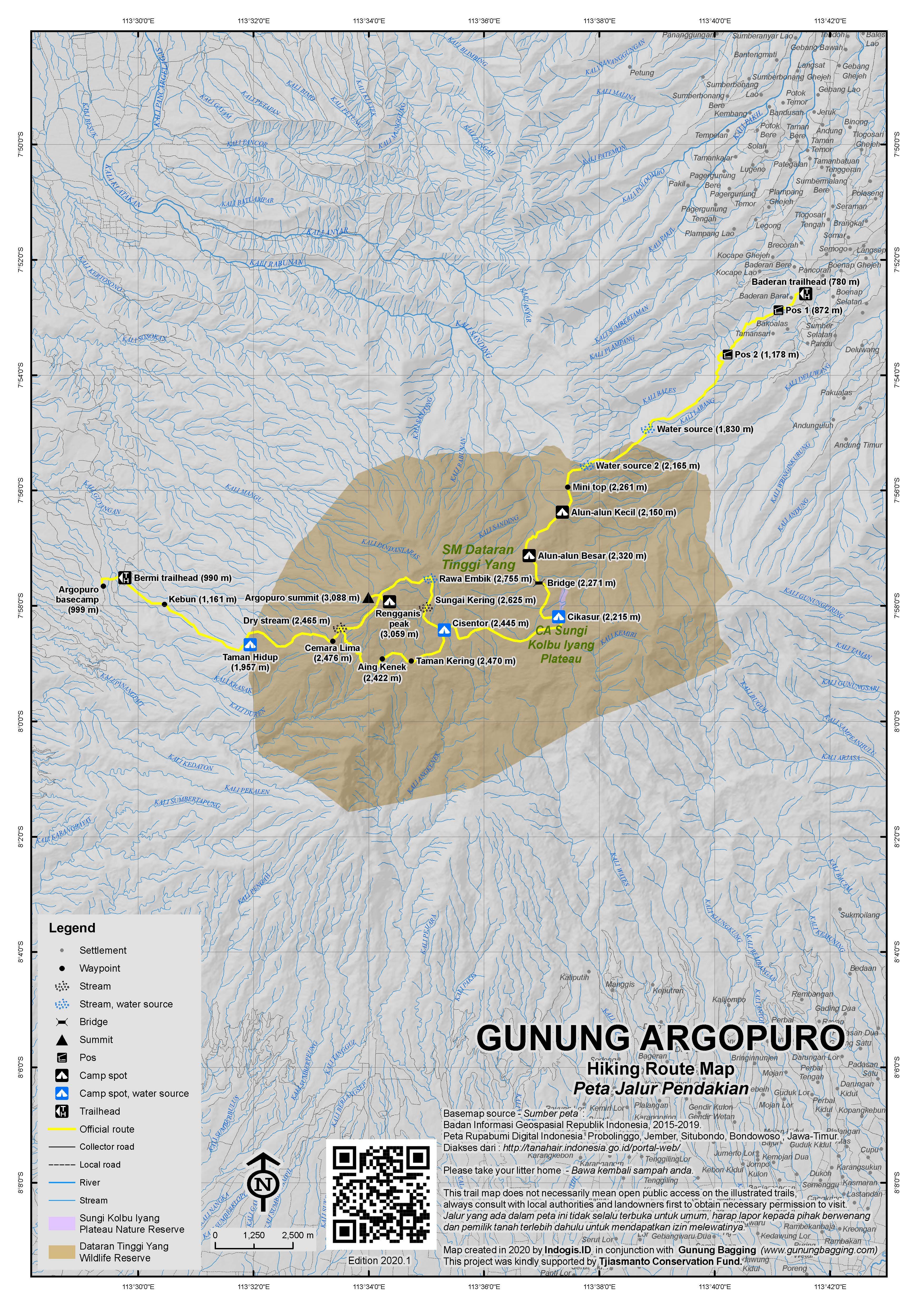 Peta Jalur Pendakian Gunung Argopuro