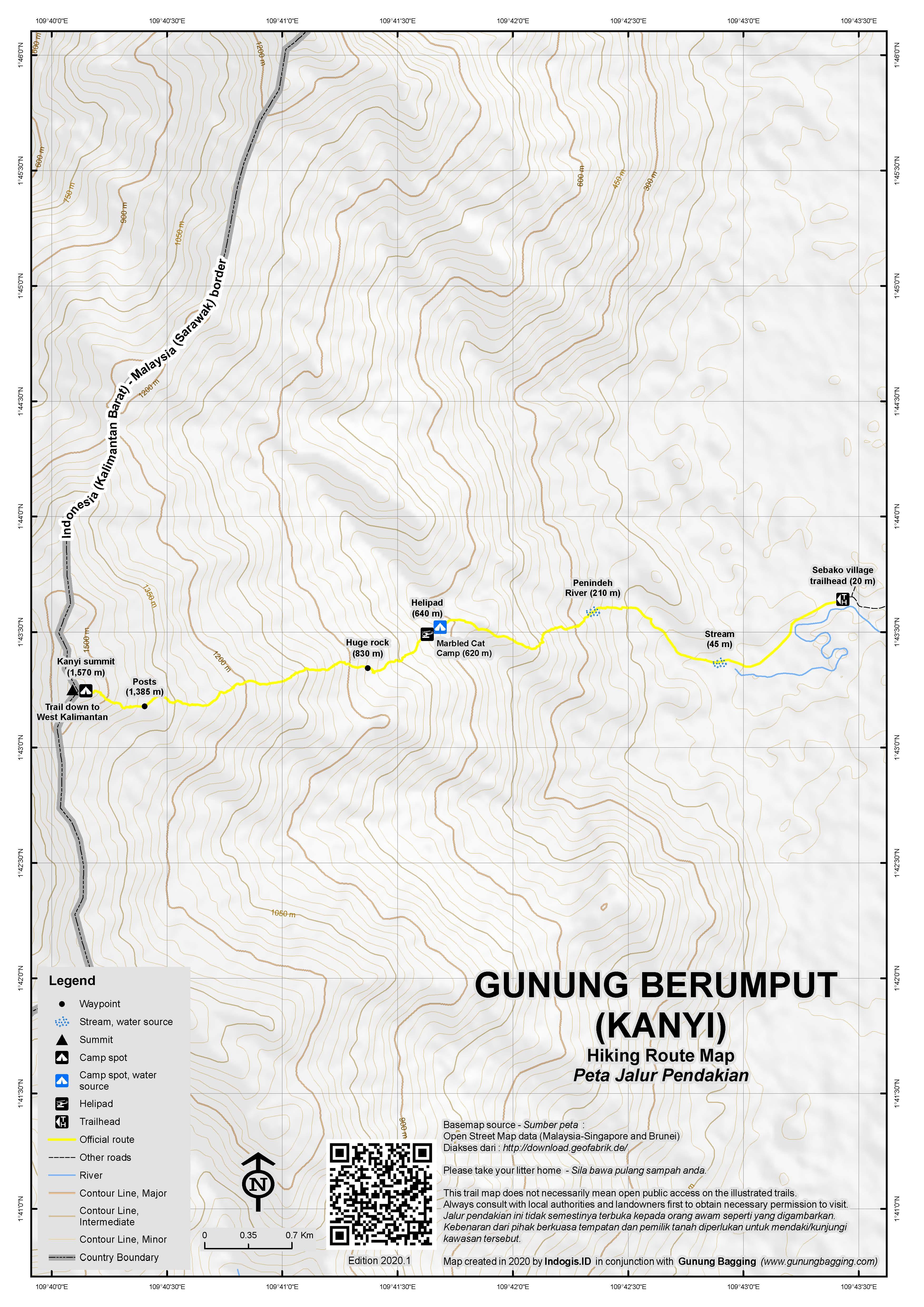 Peta Jalur Pendakian Gunung Berumput