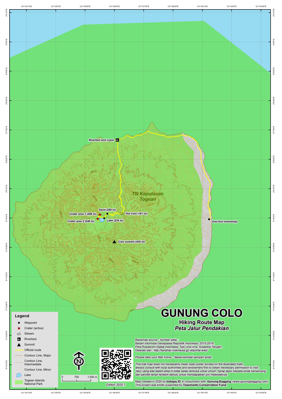 Peta Jalur Pendakian Gunung Colo