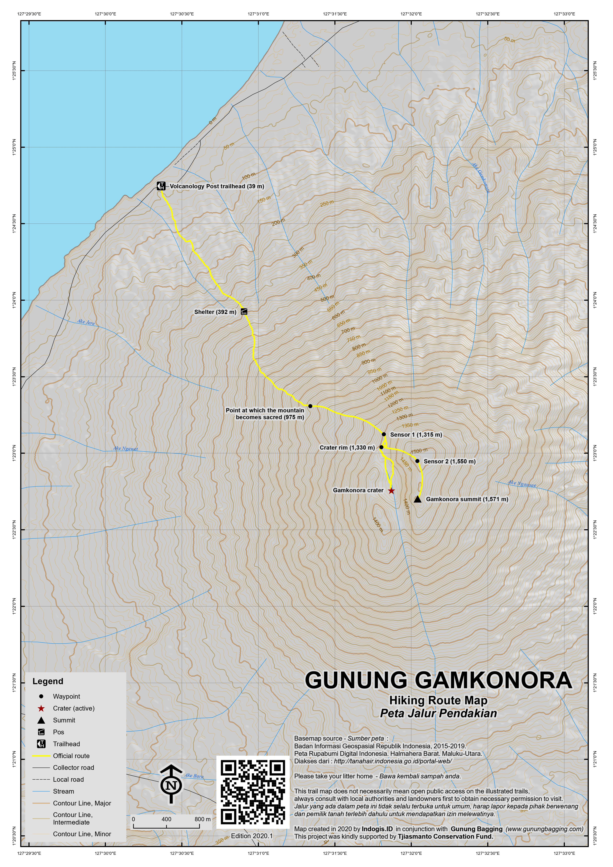 Peta Jalur Pendakian Gunung Gamkonora