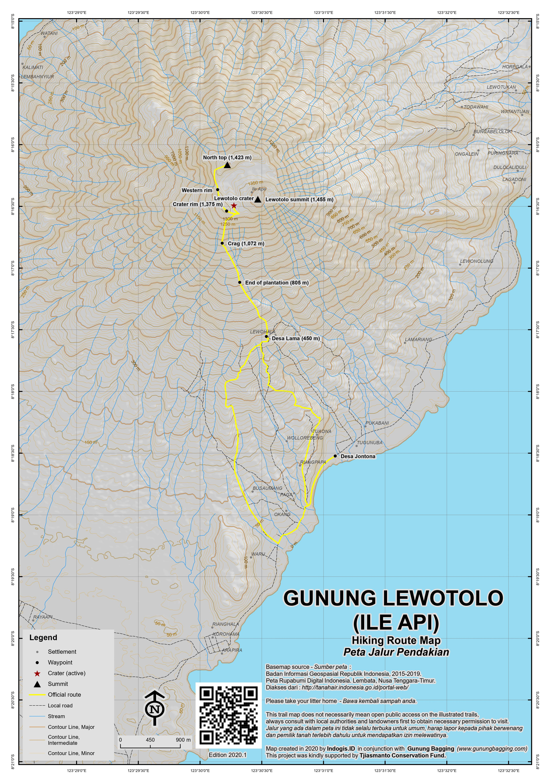Peta Jalur Pendakian Gunung Lewotolo