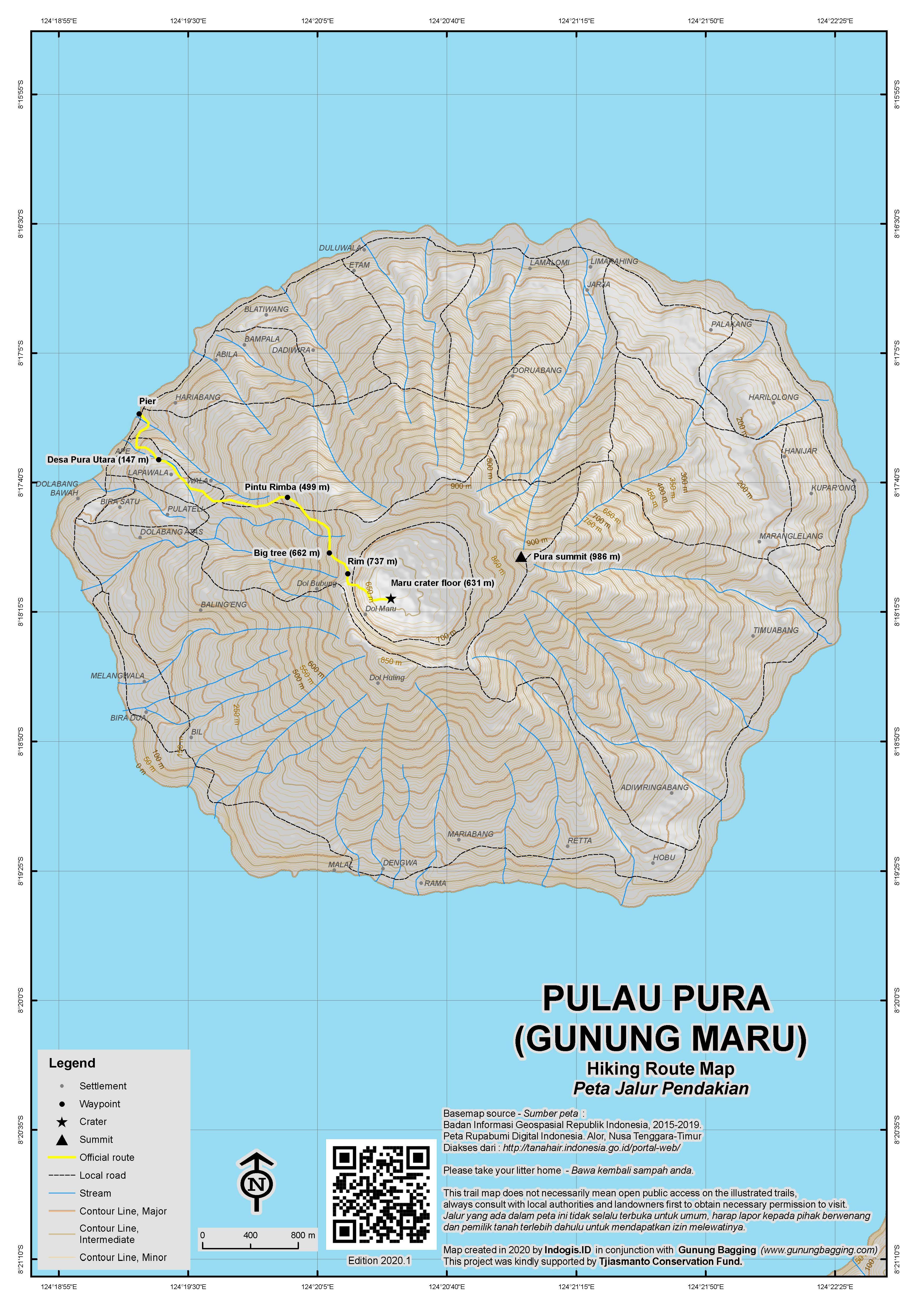 Peta Jalur Pendakian Gunung Maru