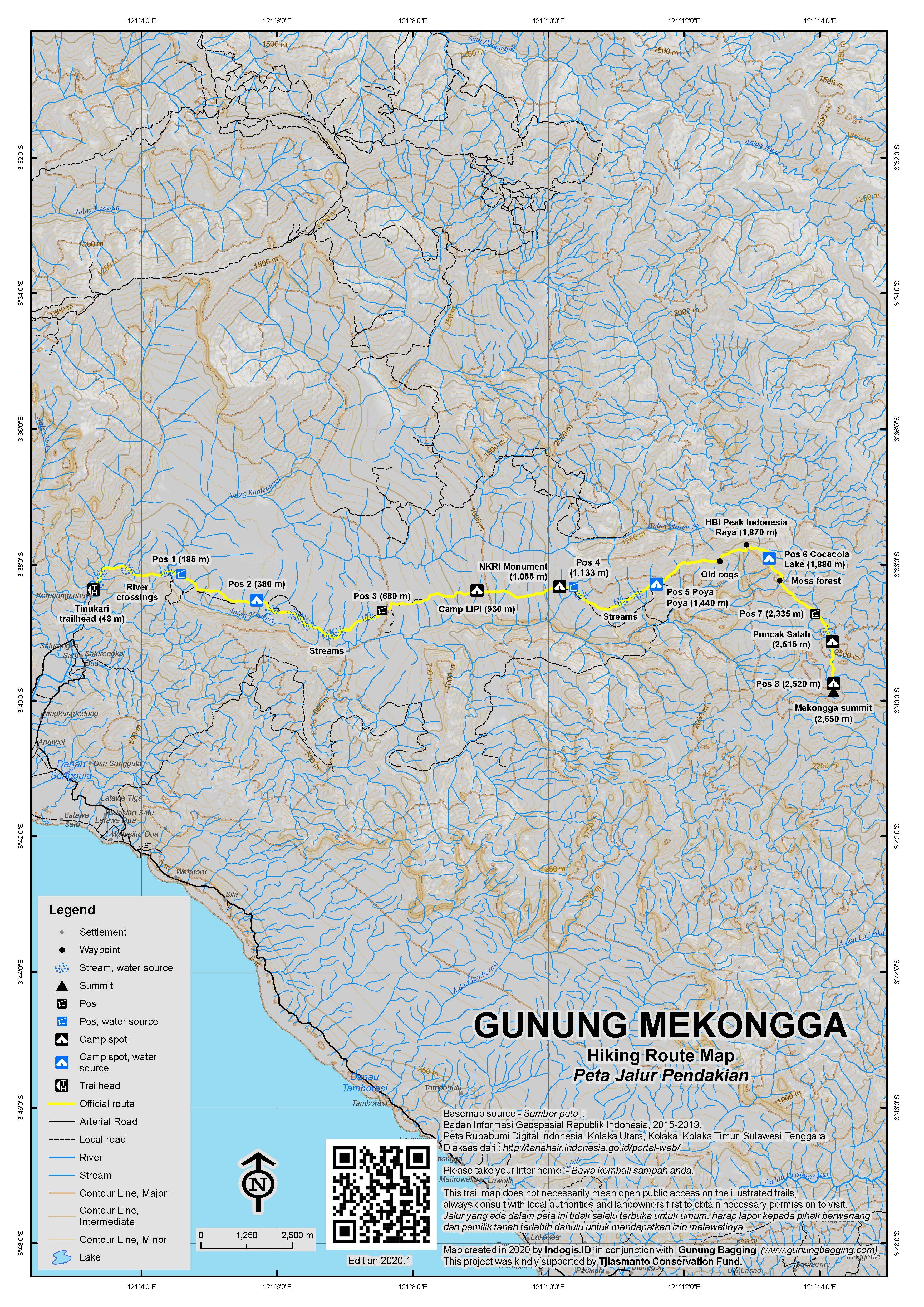 Peta Jalur Pendakian Gunung Mekongga