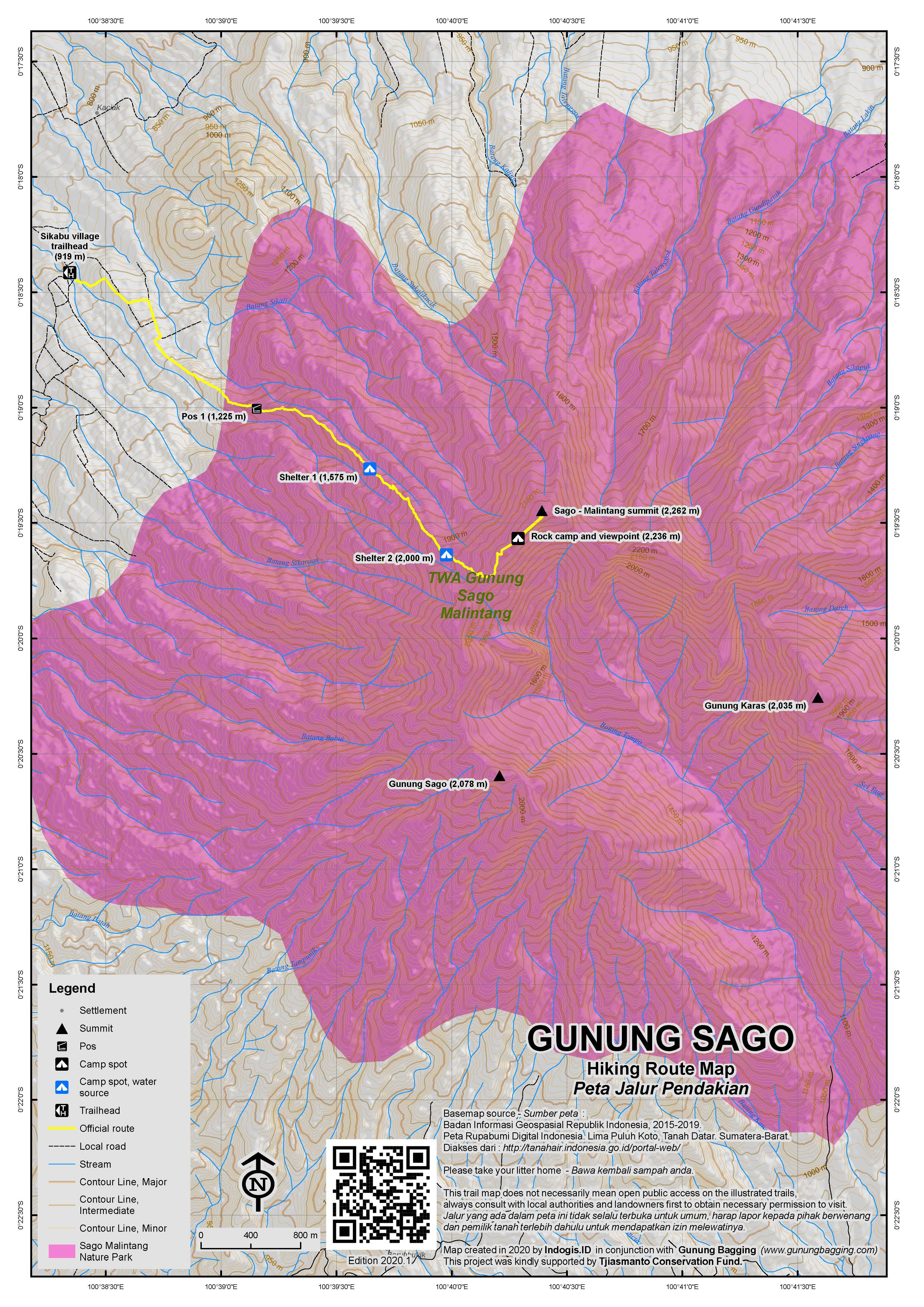 Peta Jalur Pendakian Gunung Sago