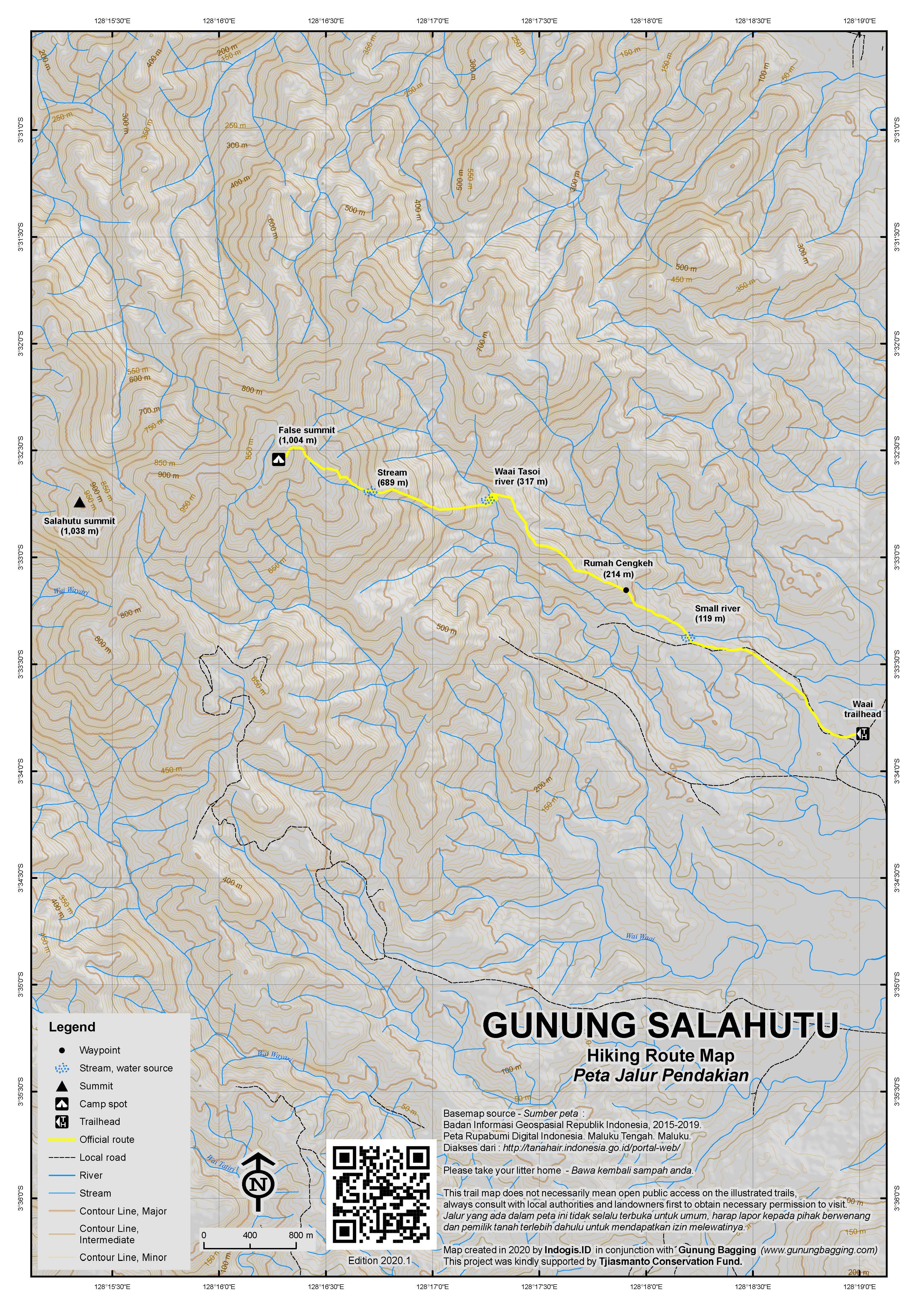 Peta Jalur Pendakian Gunung Salahutu