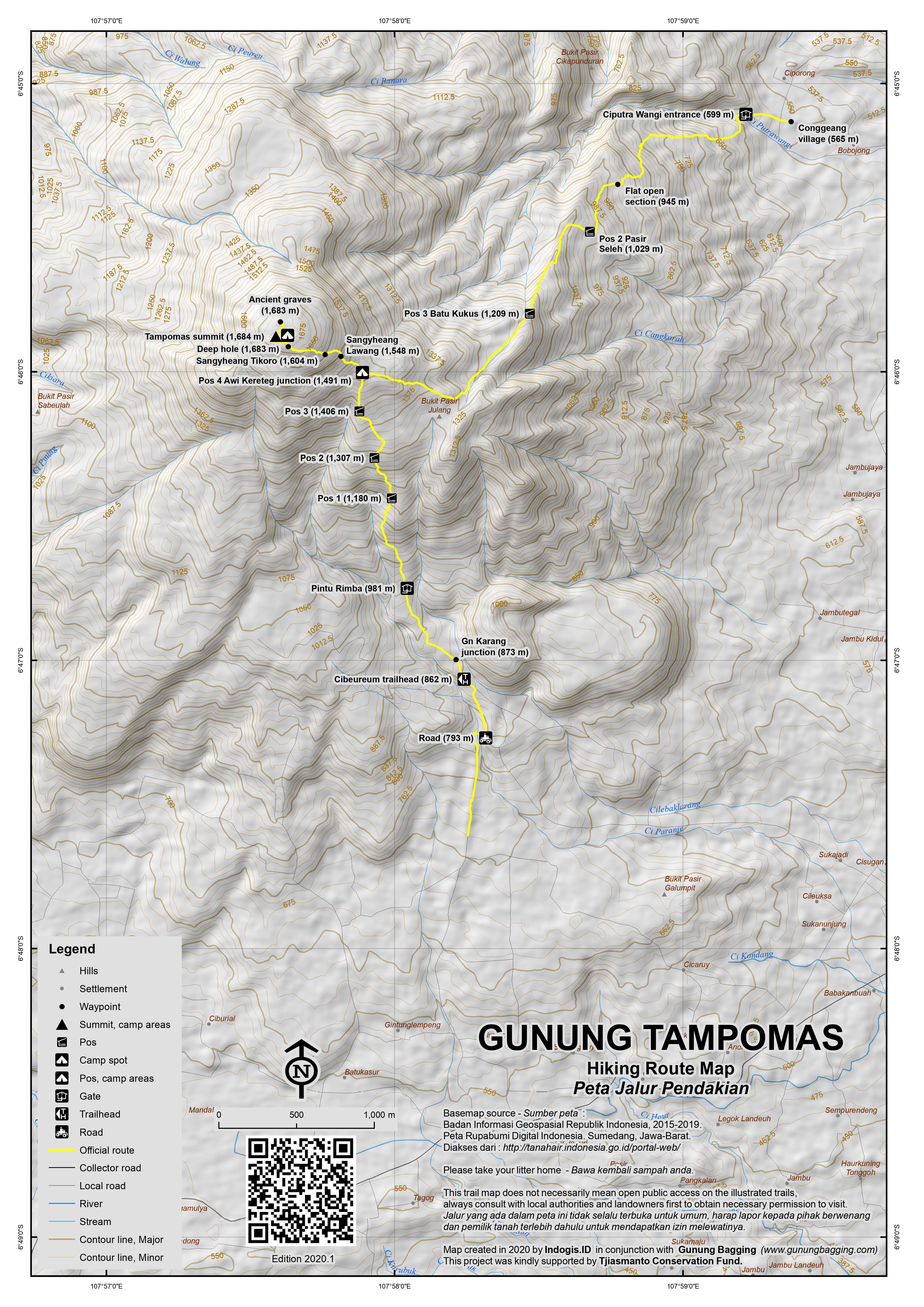 Peta Jalur Pendakian Gunung Tampomas