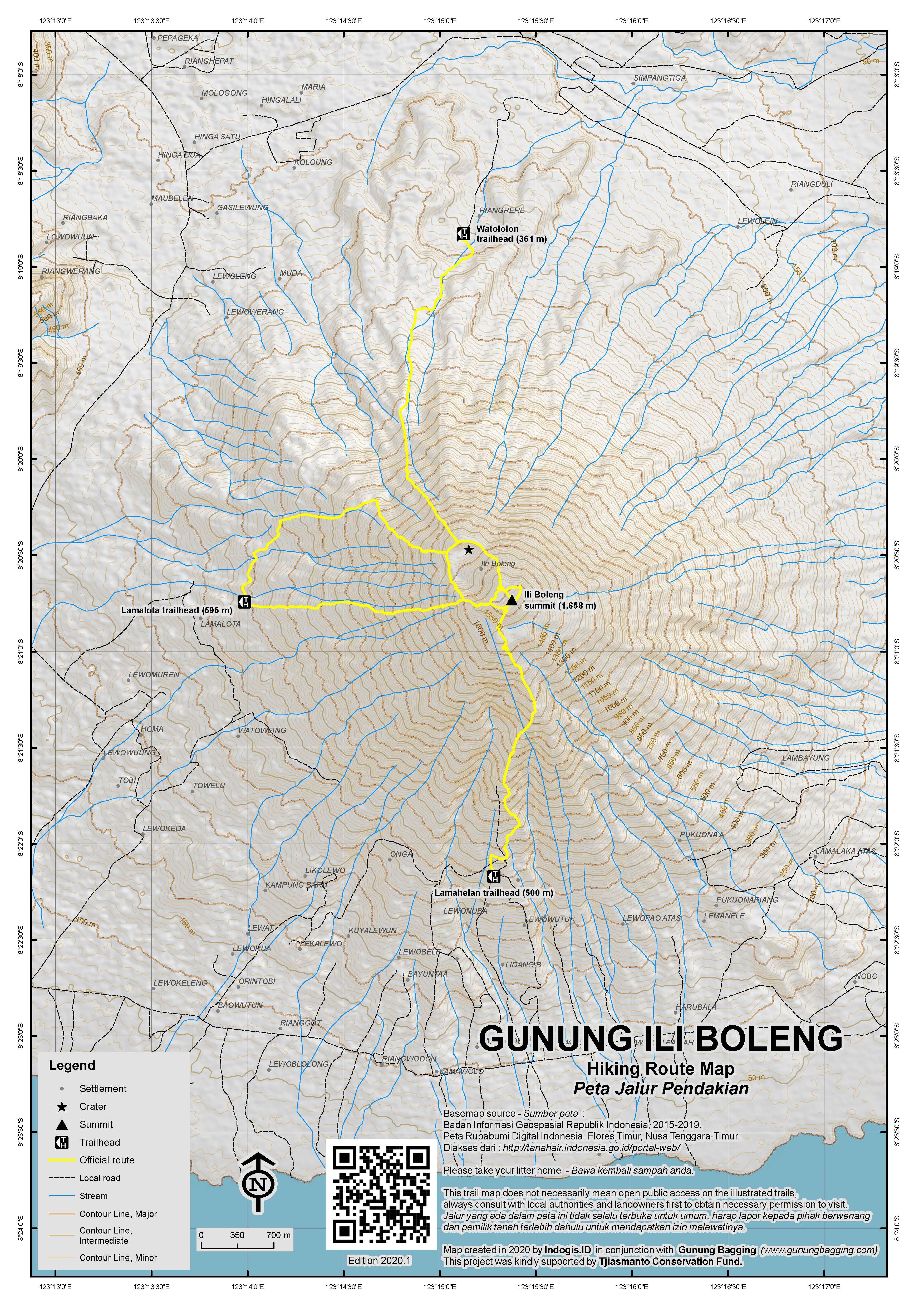 Peta Jalur Pendakian Ili Boleng