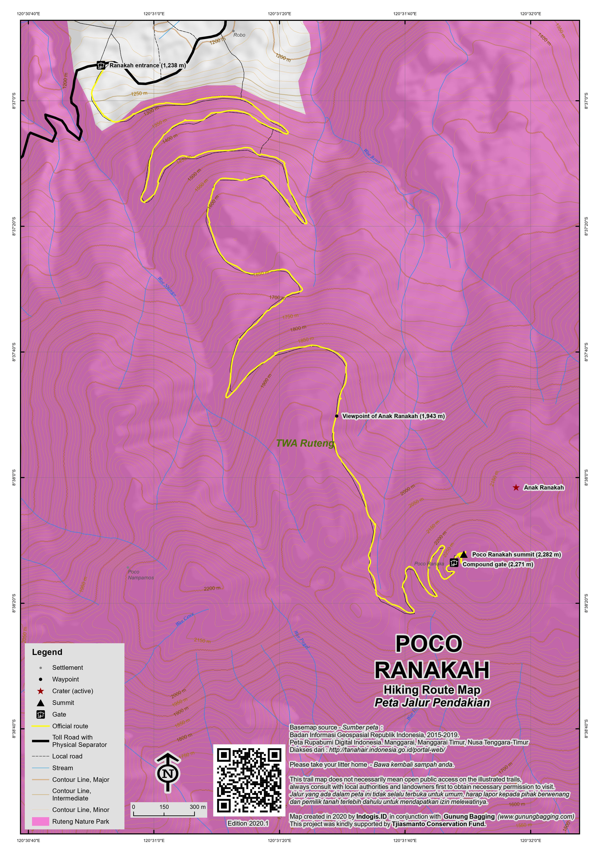Peta Jalur Pendakian Poco Ranakah