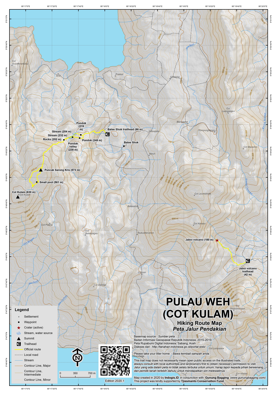 Peta Jalur Pendakian Pulau Weh