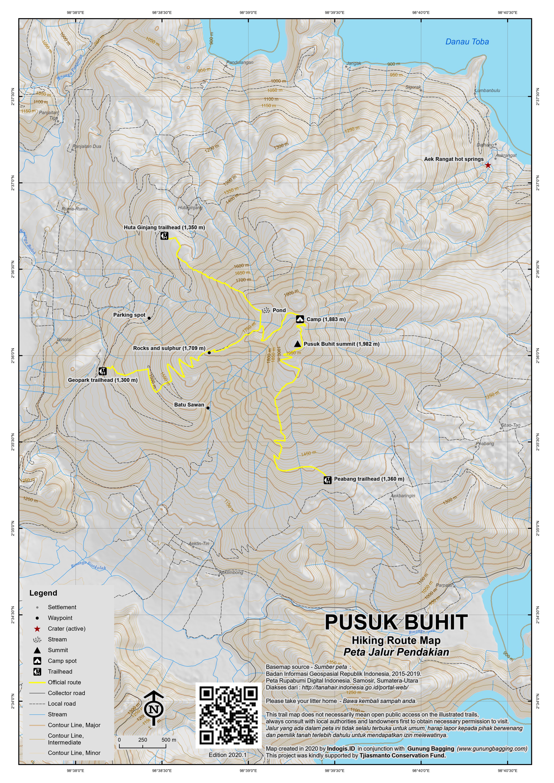 Peta Jalur Pendakian Pusuk Buhit